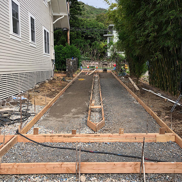 image of new driveway being installed